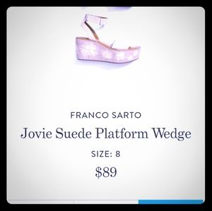Franco Sarto Wedge Sandals size 8